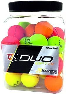 Wilson 3 Dozen NEW Staff DUO Soft Optix Jar Golf Balls 36 Total/Bucket