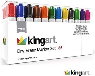KINGART 945-36 Value Pack Set of 36 Dry Erase Marker Set, One Size, 36 Count