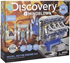 MindBlown DIY Model Engine Kit - Mechanic Four Cycle Internal Combustion Assembly Construction, Comes W/Valves, Cylinders,...