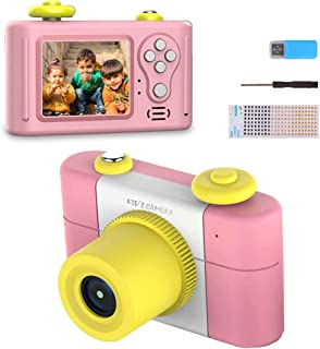 Kids Camera Toys for Girls,Gifts Rechargeable Shockproof Cute Mini Camera for Boys Anti-Drop Children digital Video Camera with Photo Frame