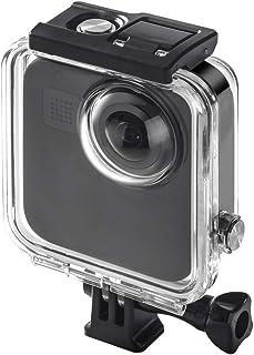 Yangmeijuan Estuches para cámaras fotográficas y Bolsos 45m bajo el Agua Impermeable Caso de la Vivienda de Buceo for GoPro MAX con Hebilla de Montaje básico y Tornillo
