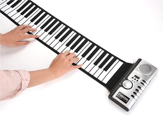 Roll Up Piano, portátil 61 teclas recargable Instrumento de ...