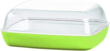 Emsa 512644 Butterdose, Kunststoff, 13.5 x 10 x 6 cm, Transparent/Limette Vienna preisvergleich bei geschirr-verleih.eu
