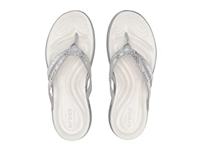 Crocs Capri Strappy Flip (Silver/Silver) Women
