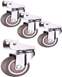 4 stuks meubelwielen, zwenkwielen 3,5 cm/2 inch met remmen, salontafel, gebruik een dempwiel (kleur: A, maat: 2 in).