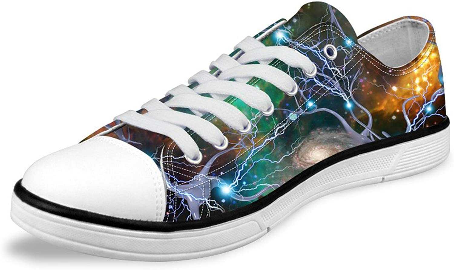 FOR U DESIGNS Stylish Personalized Lo-top Lace Up Sneaker Canvas shoes for Women US 11