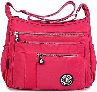 a651a4bd17a0 TianHengYi Womens Lightweight Nylon Cross-body Shoulder Bag Casual  Messenger Bag with Zipper Pockets