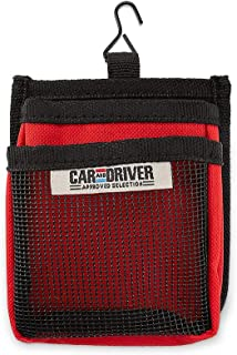 Car and Driver Air Vent Organizer Pockets - 2 Pockets - Easily Clips Into Any Vent - Dual Compartments - Reduce Clutter and Store Small Objects Like Phones, Glasses, and More (Red)