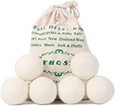 2020 Upgraded Version Wool Dryer Balls Organic XL 6-Pack, Reusable Fabric Softener, Dryer Sheets Alternative by FHQSX