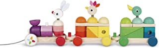 Janod Zigolos Giant Wooden Multicolor Train, Model:J08202
