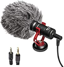 Boya MM1 Video Microphone, Universal Cardioid Mic Compatible with iPhone X 8 8 Plus 7 6 6s, DSLR, Tablets, Camera, Camcorder, Audio Recorders