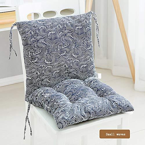 zzjj Cojín de Silla de una Pieza de algodón Puro Silla para Adultos Engrosada Tatami Asiento Elevado sillón Silla de jardín Silla de Oficina -40 * 40 cm (sin Silla)