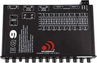 $79 » Massive Audio EQ9 – 9 Car Equalizer with 9 Band Graphic Equalizer - Aux Inputs - 7V RCA Outputs - 18dB Crossover