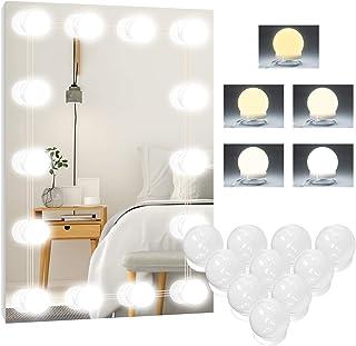 Lampa LED do lustra, 5 kolorów Hollywood, 10 przyciemnianych świateł do makijażu, lampa do toaletki, lampa do makijażu, la...