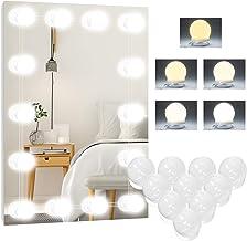 Led-spiegellamp, 5 kleuren, Hollywood-licht voor spiegels, 10 dimbaar, make-uplicht, make-uptafellamp, make-uplamp, spiege...