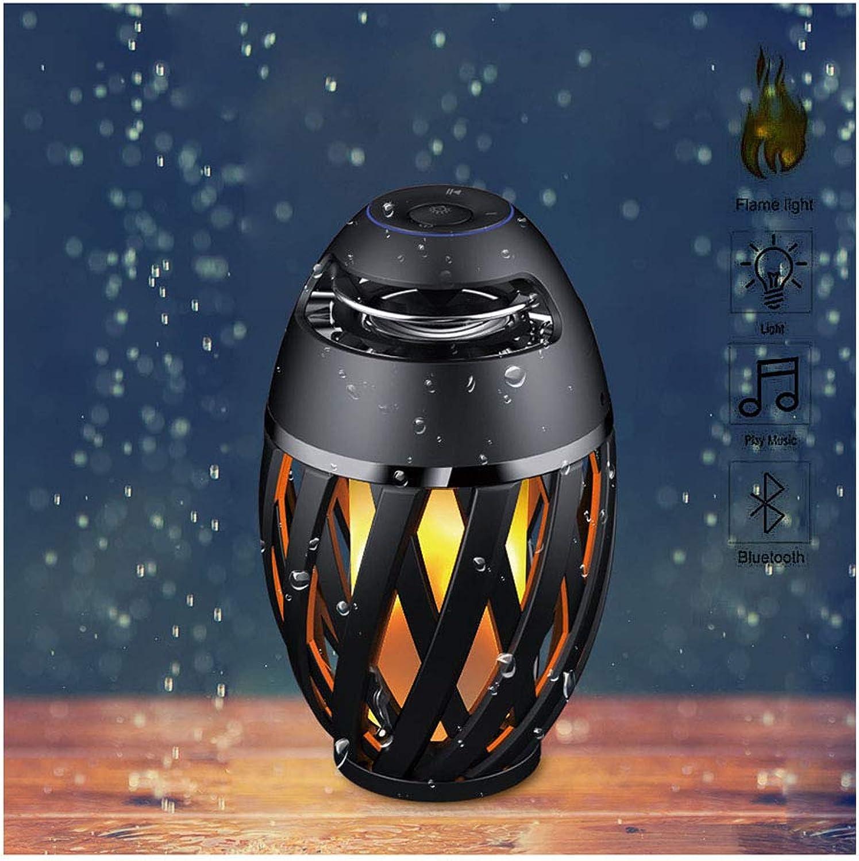 Blautooth lautsprecher led flamme flackern nachtlichter outdoor hd wasserdichte audio nachttischlampe schreibtischlampe usb wiederaufladbare tragbare tischleuchte