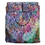 DAMKELLY Store Juego de ropa de cama mágica, suave y ligera, 4 piezas, para toda la temporada, color blanco, 175 x 218 cm