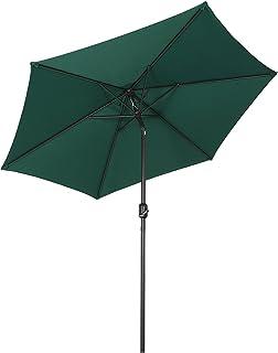 Sekey® sombrilla Parasol para terraza jardín Playa Piscina Patio diámetro 270 cm Protector Solar UV50+ Verde