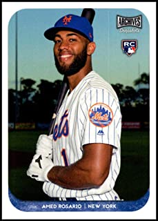 2018 Topps Archives Snapshots #AS-AR Amed Rosario NM-MT RC New York Mets Official MLB Baseball Card