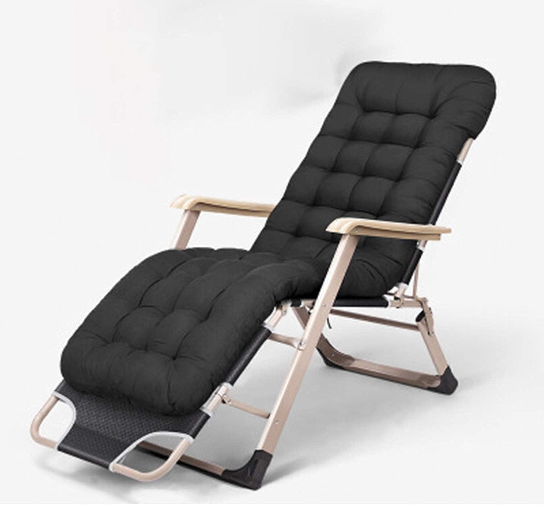 HEIFEN Lounge Chair, Pedal Design, Lounge Chair, Liege, hochwertiges Kissen aus Baumwollgewebe, schwarzes Erscheinungsbild