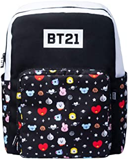 MARE0072, Mochila Escolar BT21 Cool Collection Unisex Adulto, Negra, 43 x 31 x 16 cm