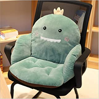 LanShanFang Fruit semi-Enclosed Cushion Office Chair Cushion Anti-Slip Back Cushion Plush one-Piece Thickened Student seat Cushion (Dinosaur, 14 x 14 x 22 inch)