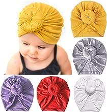 Zando Baby Turban Headwraps Newborn Hospital Hats Soft Bow Infant Toddler Cap