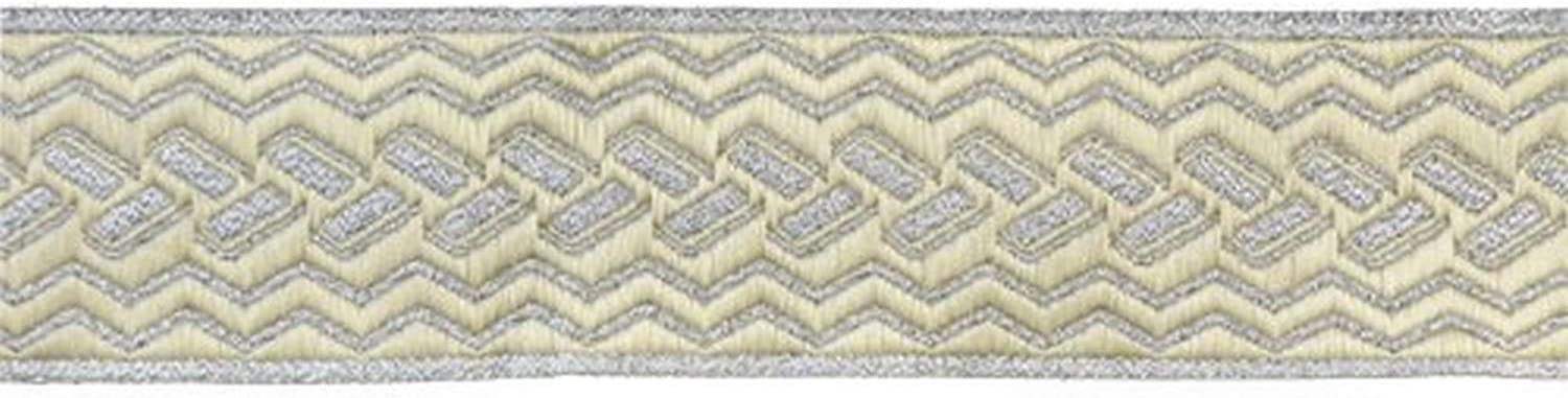Belagio Spasm price Enterprises 1-1 2-inch Woven Trim Special Campaign 25 Silver Yards Tape