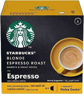 STARBUCKS Blonde Espresso Roast by NESCAFÉ Dolce Gusto Coffee (12 Capsules)