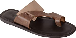 VONZO Men Brown Fancy On Sandal Chappal with Toe