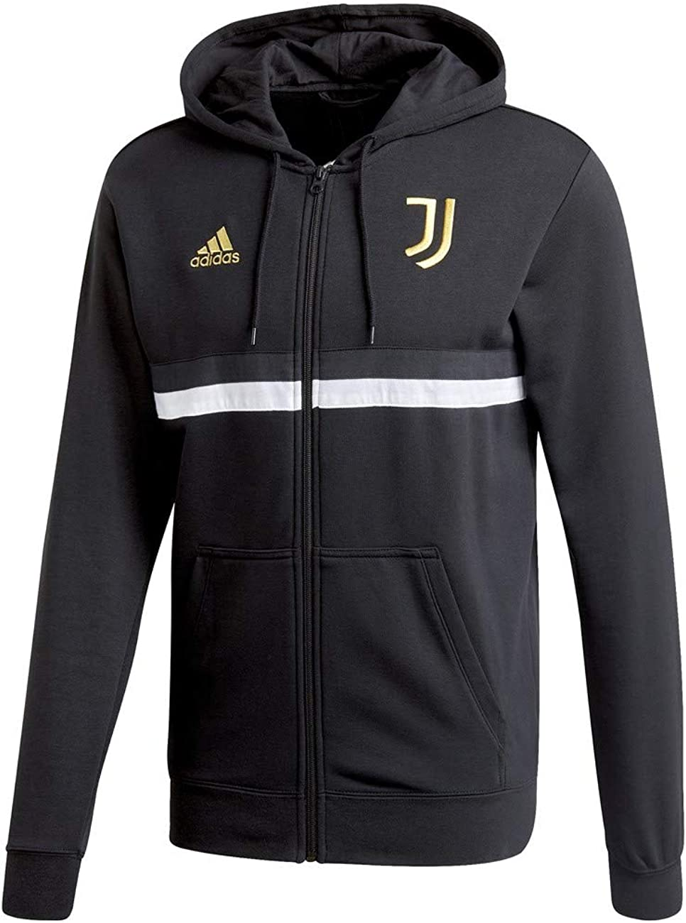 adidas Men's Finally popular brand Juventus Full-Zip Popular brand in the world 3-Stripes Hoodie