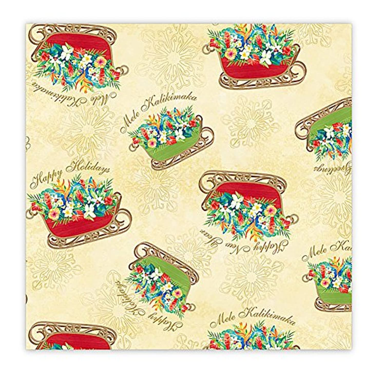Sleigh of Aloha Hawaiian Continuous Gift Wrap Paper 2 Rolls