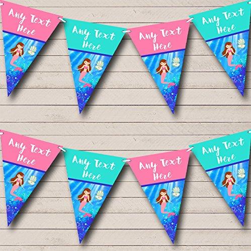 Zeemeermin Onder De Zee Gepersonaliseerde Baby Douche Bunting Party Banner Decoratie Garland Small