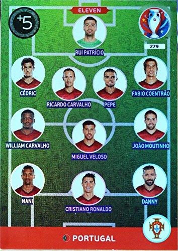carte PANINI EURO 2016 #279 Eleven Portugal