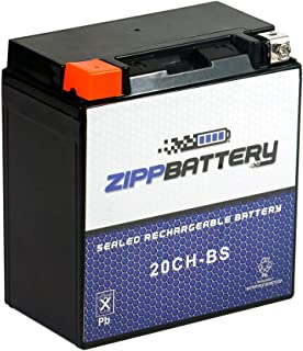 YTX20CH-BS Rechargeable Powersports Battery - Factory Sealed and Activated - Replacement for CYTX20CH-BS, GTX20CH-BS, PTX20CH-BS - Zipp Battery