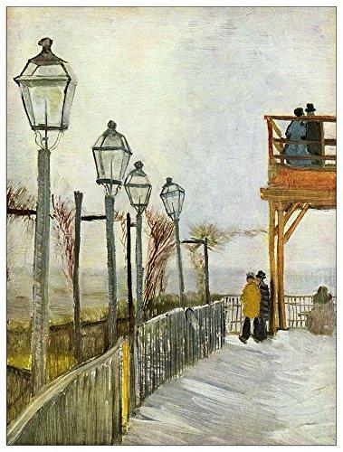 ArtPlaza Van Gogh Vincent-Montmartre in de bovenste molen decoratief paneel