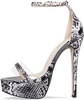 Women's Sexy High Heel Stiletto Sandals Platform Pumps Ankle Strap Open Toe Single Band Dress Party Shoes