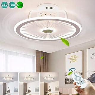 LED 56W Ventiladores De Techo Silenciosos Lámpara De Techo Con Ventilador Luz De Techo Con De Aplicaciones De Iluminación Control Remoto Regulable Para Dormitorio Sala Estar Habitación De Niños Blanco
