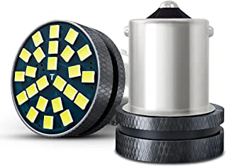 Nanpoku S25 LED シングル バックランプ ホワイト 12V 24V 車用 バックライト シングル球 ピン角180° 無極性 後退灯 車検対応 1年保証 (2個入)
