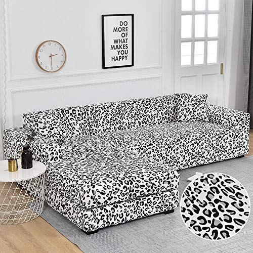 PPOS Geometry Elastic Stretch Sofa Cover Slipcovers All-Inclusive Couch Cover for Different Shape Sofa Chair L-Style D3 4seats 235-300cm-1pc