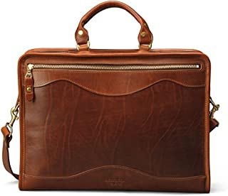 monogrammed leather briefcase