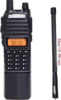 Baofeng UV-82 Plus High Power 3800mAh DC Connector Battery 8W Dual PTT Band Transceiver Amateur Portable Two Way Radio + Tactical Antenna
