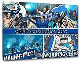 Ultras Mannheim, Bild auf Leinwand XL, fertig gerahmt, 80 x