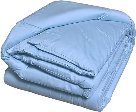 Luxlen 350Thread Count Deluxe Sateen Down Alternative Comforter Queen (88 x 88),  Brilliant Blue