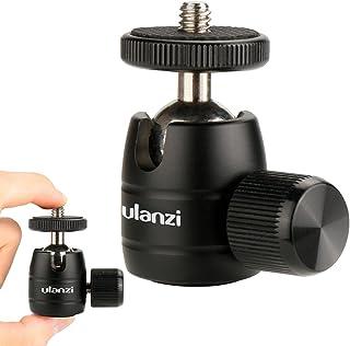 "Ulanzi Aluminum Tripod Head- 360 Degree Rotation Mini Tripod Ball Head with Lock, 1/4"" Thread Mount for iPhone 8 7 Plus Sm..."