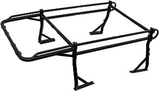 AA-Racks Model X38 Short Bed Truck Ladder Rack Side Bar with Short Over-cab Ext. -Matte Black