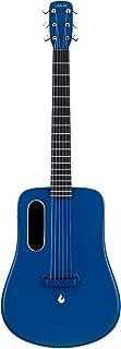 Traveler Guitar, Dreadnought Acoustic Guitar, Natural 6 String Classical Electric Guitar, Advanced Carbon Fiber Guitar by LAVA ME 2 (Freeboost-Blue)