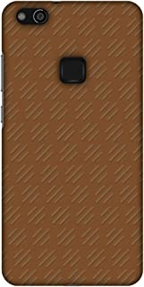AMZER Slim Fit Handcrafted Designer Printed Hard Shell Ultra Light Back Case Cover Skin for Huawei P10 Lite - Retro Lines ...