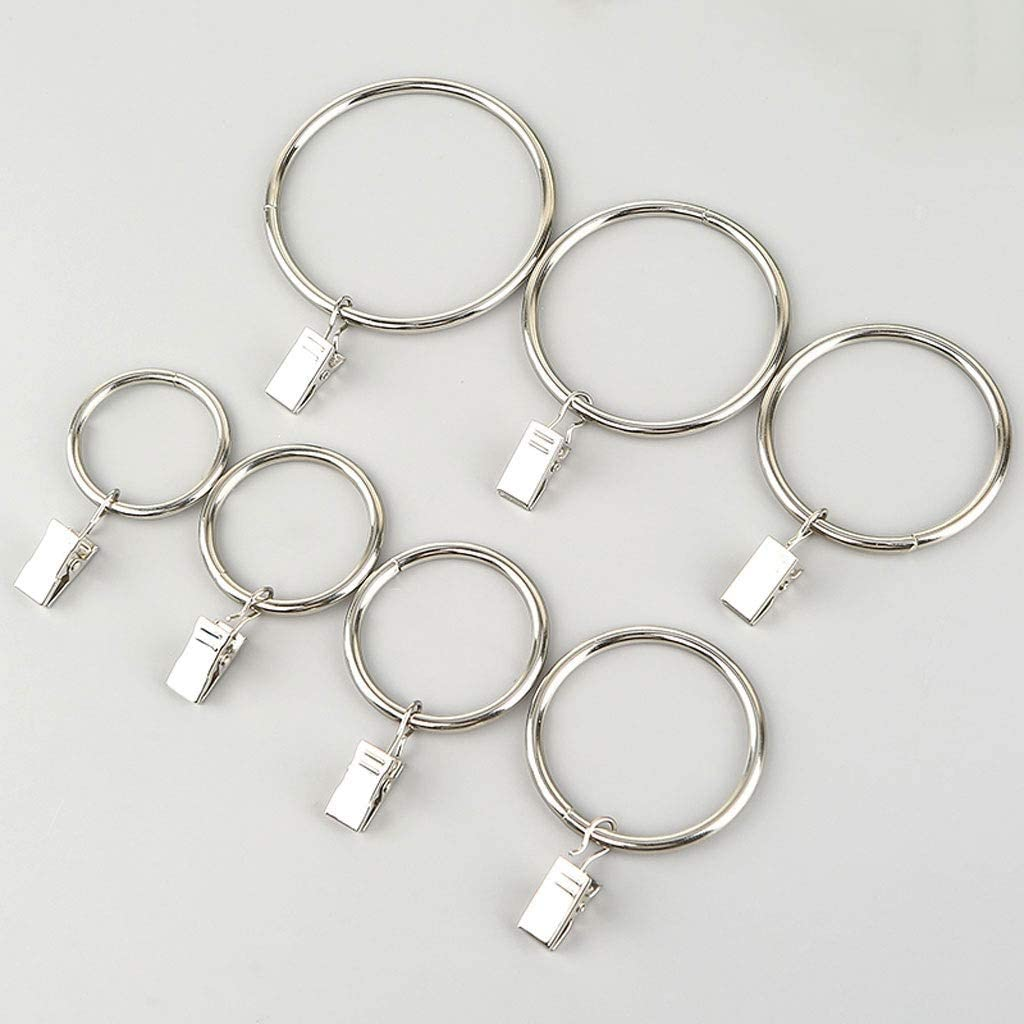 zxb-shop shopping Curtain Eyelet Rings Shower Stainl Under blast sales Hooks