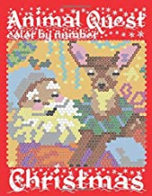 CHRISTMAS ANIMAL QUEST Color by Number: Activity Puzzle Coloring Book for Adults Relaxation & Stress Relief (Color By Number Quest)